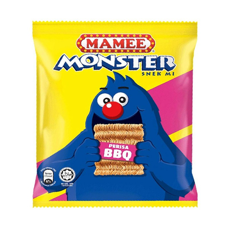 Noodles Snack BBQ - Mamee Monster