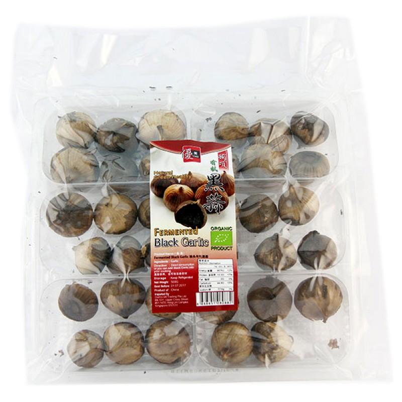 Fermented Black Garlic, Organic 有机多瓣黑蒜 - Umed
