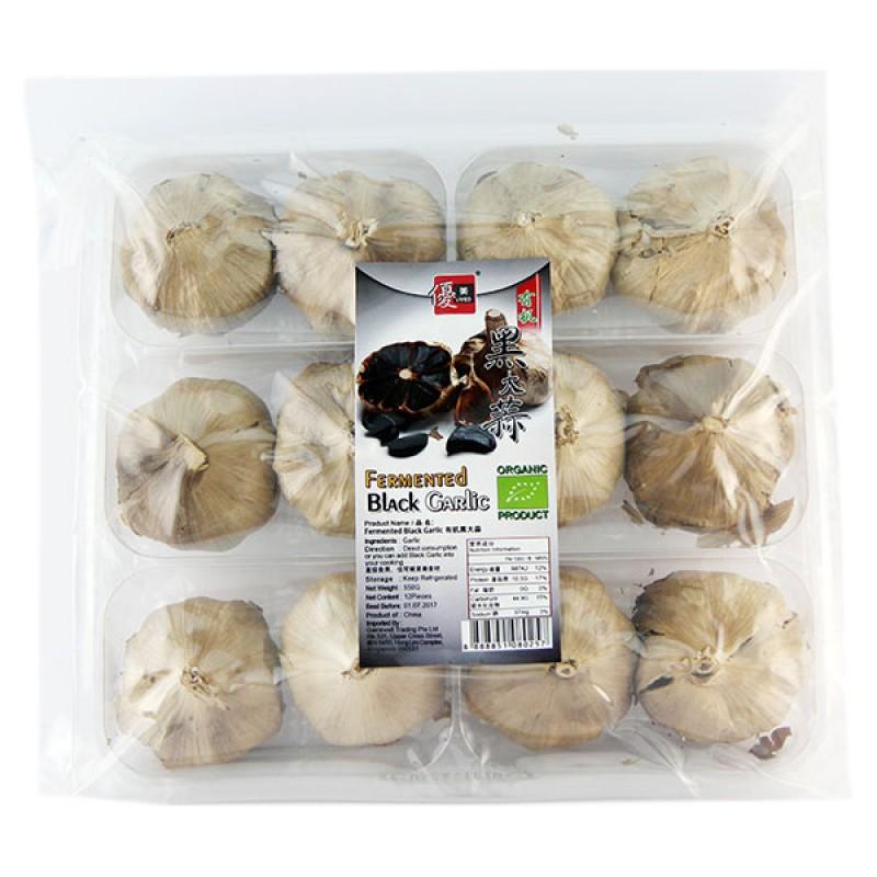 Garlic Black Fermented, Organic Big 有机多瓣黑大蒜 - Umed