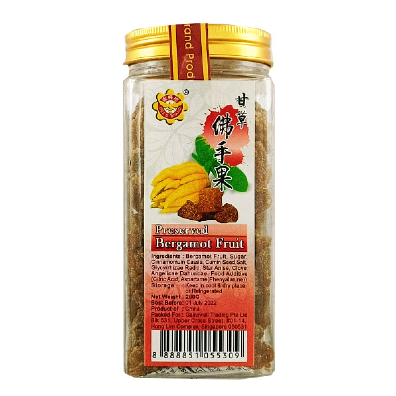 Preserved Bergamot (佛手柑) - Bee's Brand