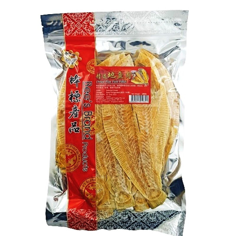 Dried Flatfish Fillet (地鱼干) - Bee's Brand