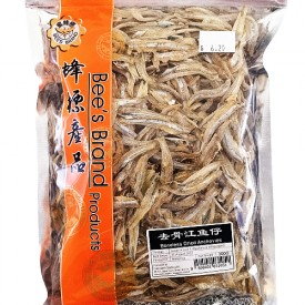 Dried Boneless Anchovies (去骨江鱼仔) - Bee's Brand